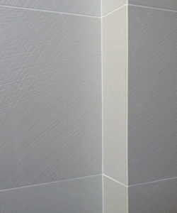 Back-mitered edge to form an outside corner