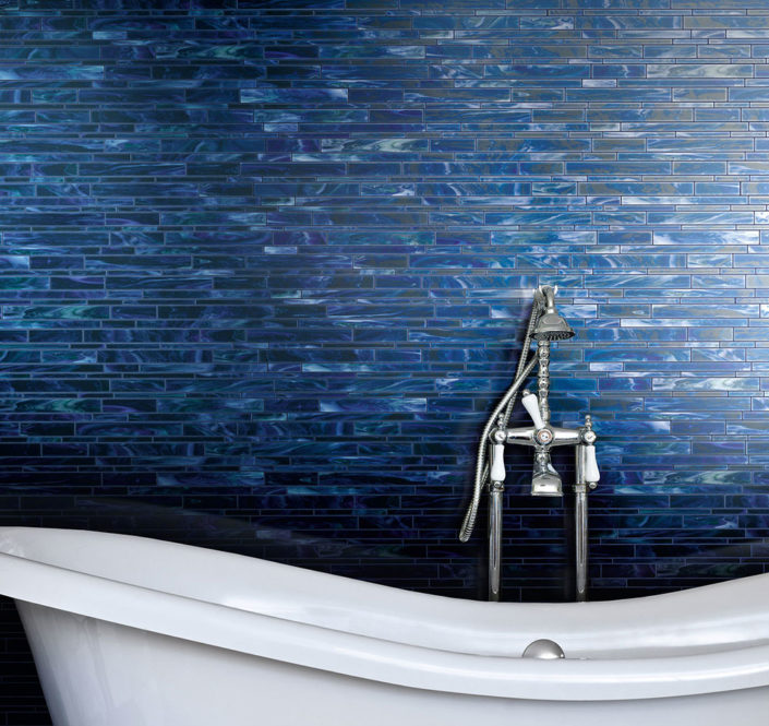 Blue Mosaic Tile Decorative