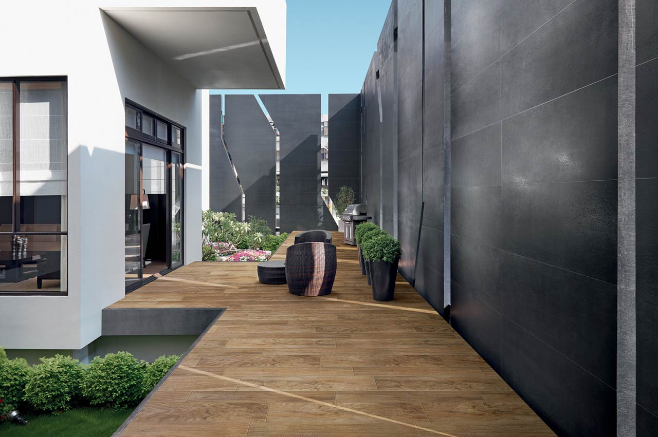 Outdoor tiles create additional living space outside porcelain ceramic tile dailygadgetfo Image collections