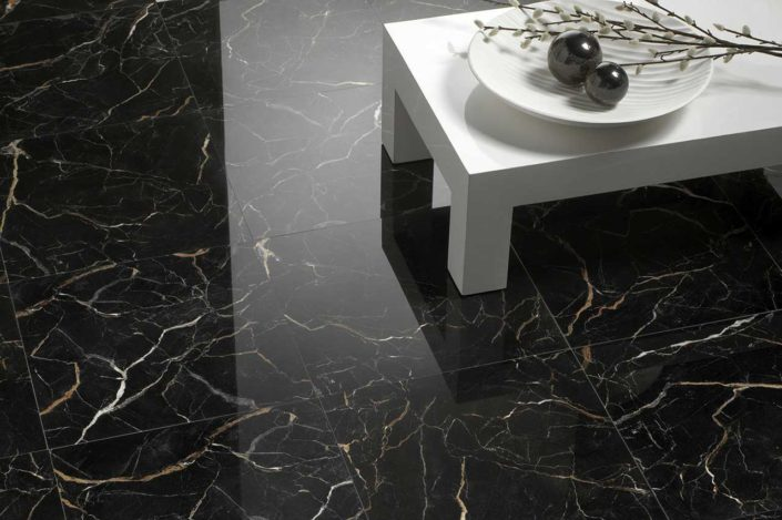 San Diego Marble Tile  MSM BlackMarble Natural Stone Replica Tile