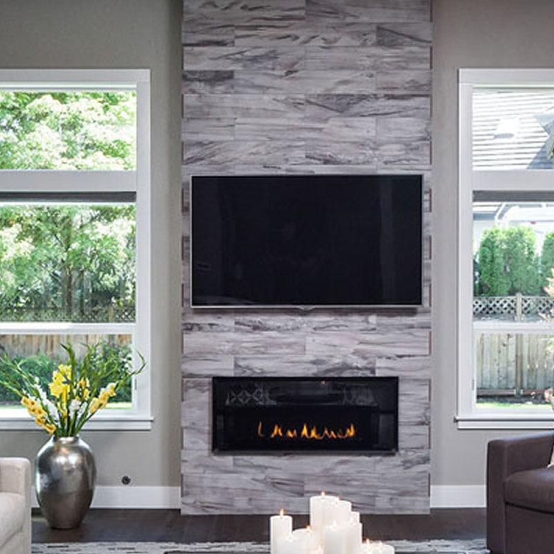 San Diego Marble Tile Fireplace Ledger Stone
