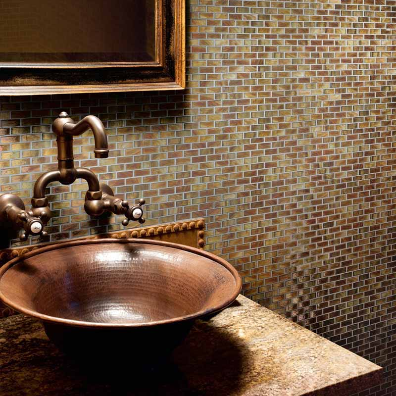 San Diego Marble Tile Bathroom Rustic