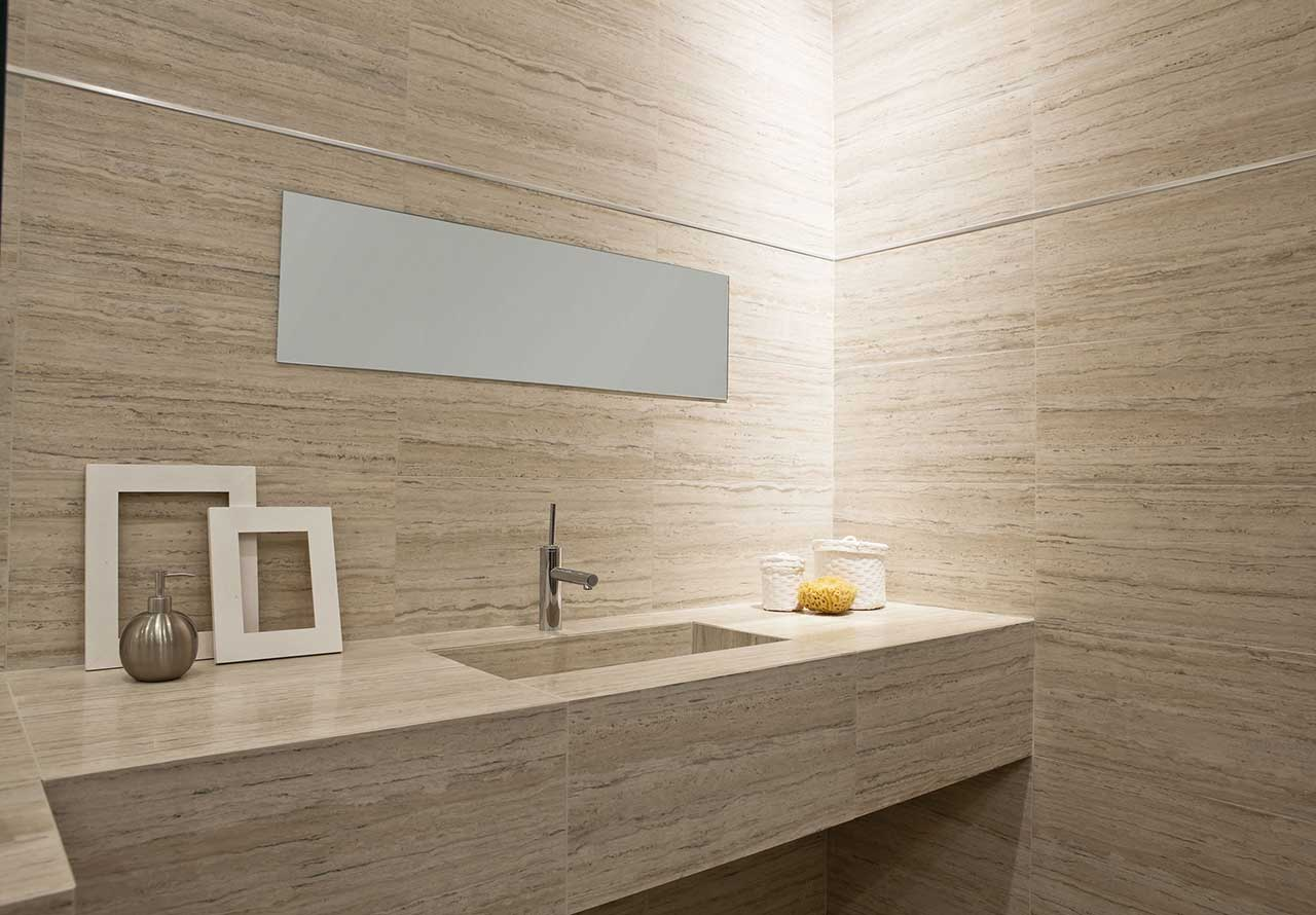 The facts about limestone modern bath limestone facts san diego marble tile dailygadgetfo Choice Image