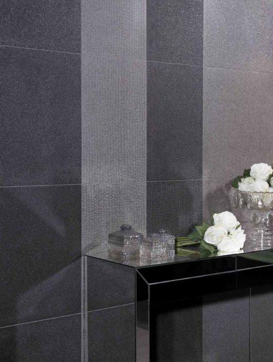 SAN DIEGO MARBLE TILE BATHROOM MASCULINE Titanium
