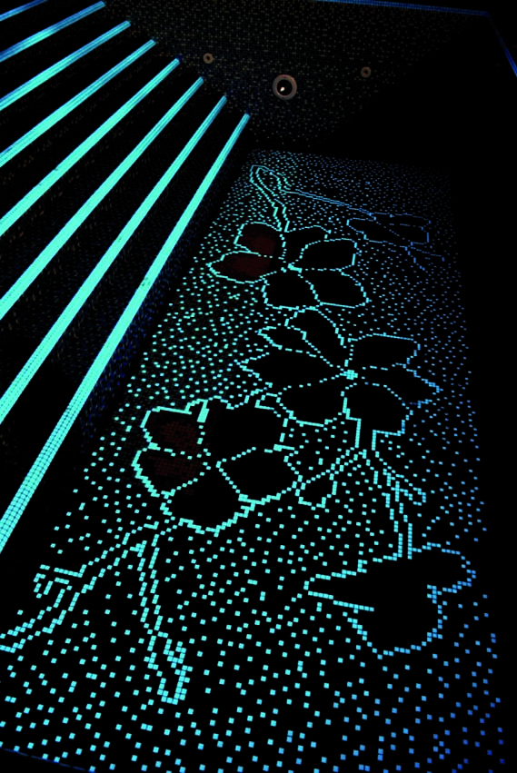 VDRPR SAN DIEGO MARBLE TILE OUTDOOR GLOW IN THE DARK POOL MOSAIC Titanium