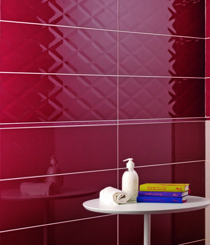 SAN DIEGO MARBLE TILE BATHROOM IRIS rays p brown