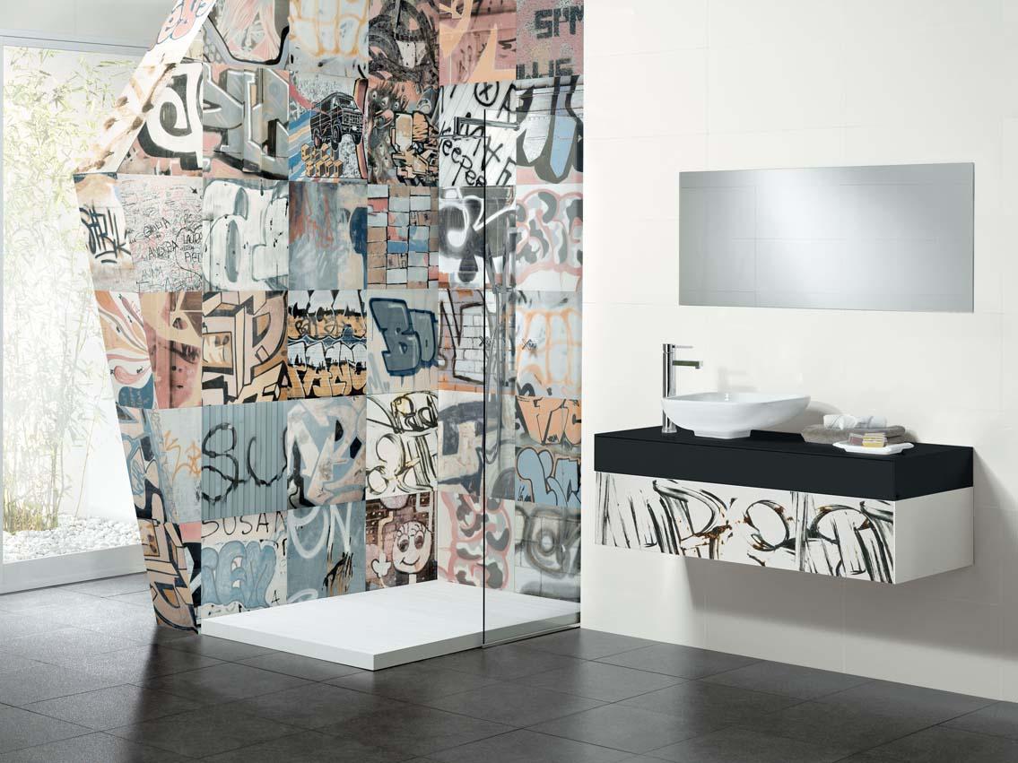 SAN DIEGO MARBLE TILE BATHROOM GRAFFITI ART TILE BATHROOM UNIQUE MUSEUM H