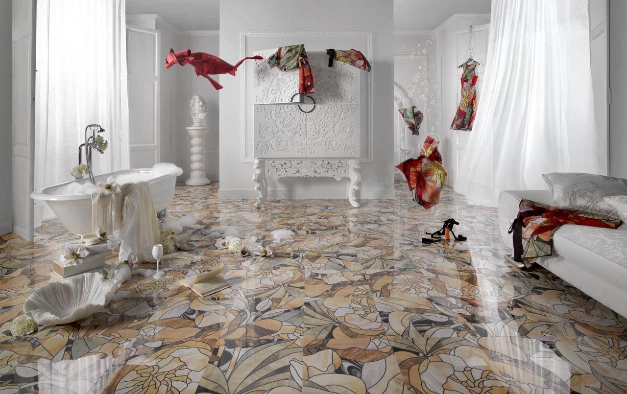 3 San Go Marble Tile Bathroom Graffiti Art Unique Museum H21