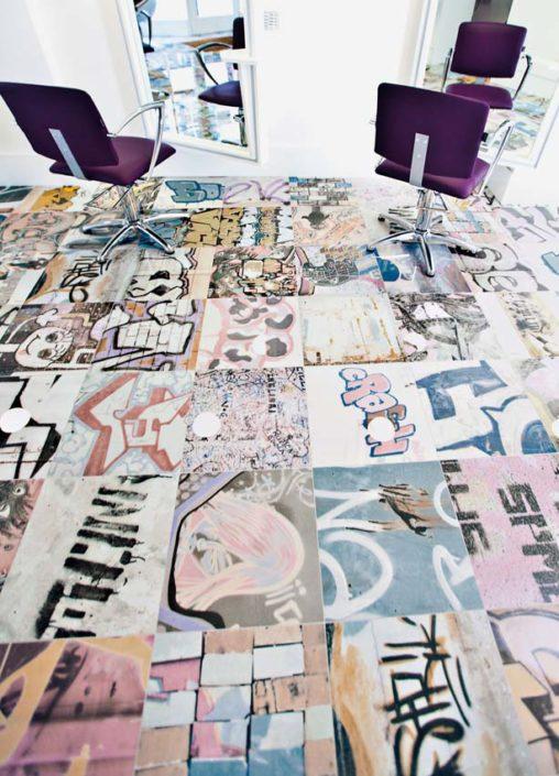 SAN DIEGO MARBLE TILE LIVING GRAFFITI ART TILE LIVING UNIQUE MUSEUM H