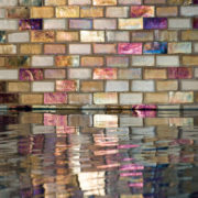 Glass tile is the perfect accent!