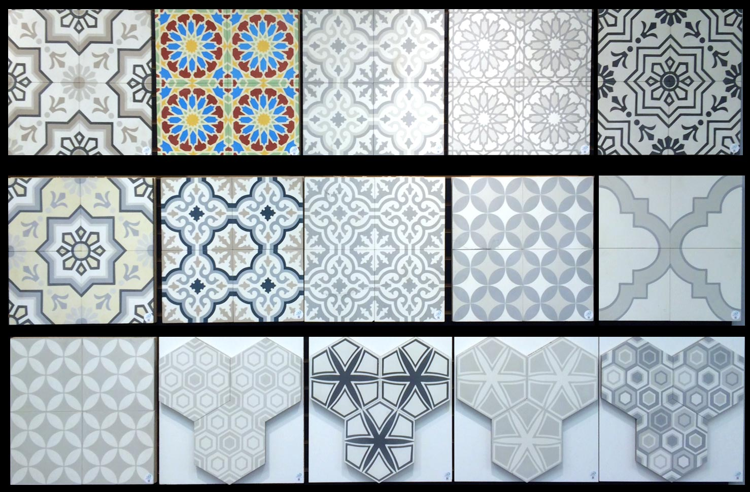 Vendor 47 &*#13; Collection: French Encaustic Cement Tiles