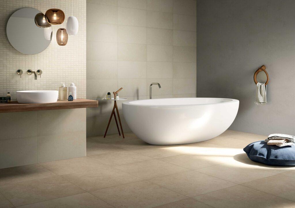 3_LIMESTONE Bathroom_Pietre_di_Borgogna_Sabbia 60x60_Diamante 30x60 1 scaled