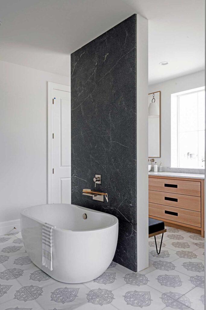 40_Caprice Quartz on Carrara Floor Bathroom Floor