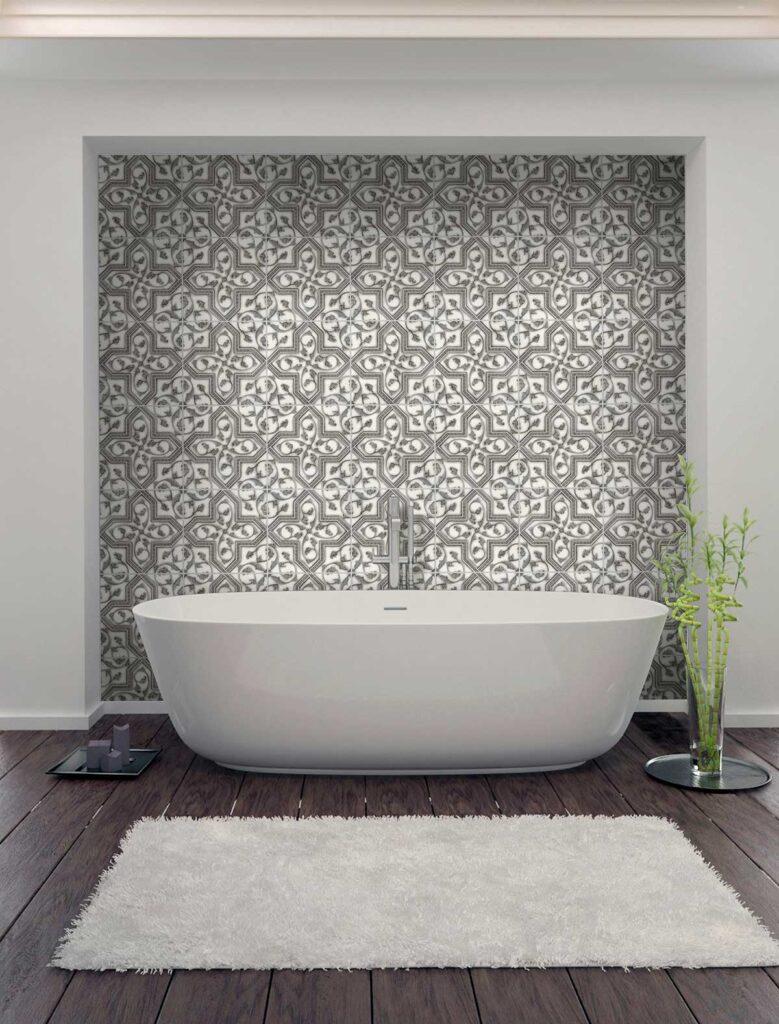 40_Florence Grigio on Carrara Bathroom Installation