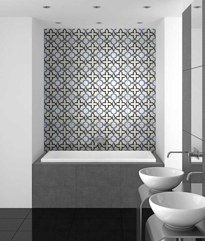 40_Talula Bluebell on Thassos Bathroom Installation